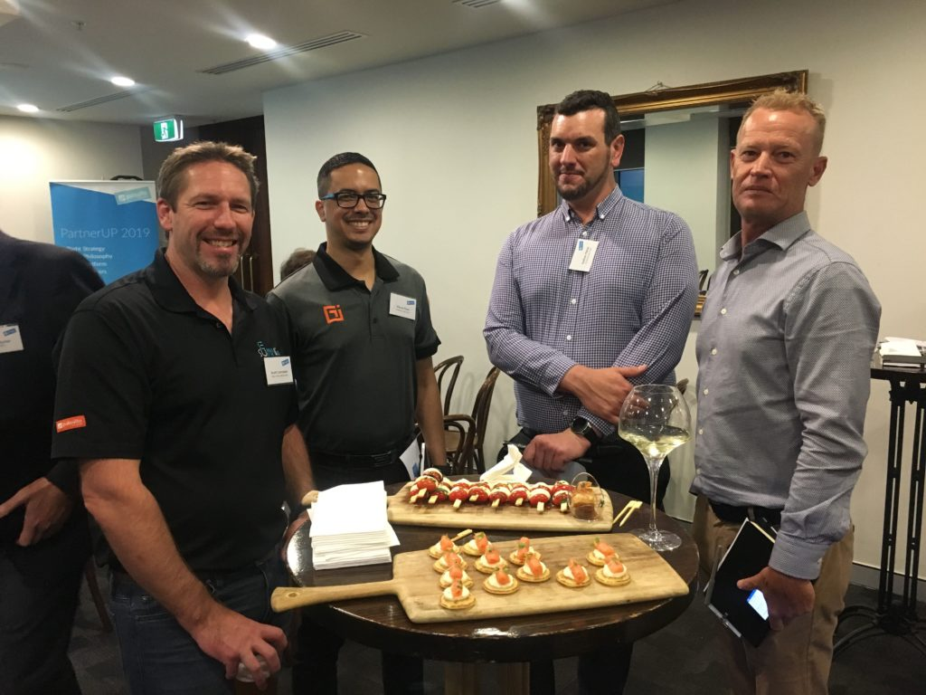 diverse services team members at palo alto event