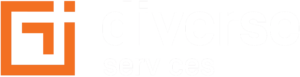 diverse services logo orange and white